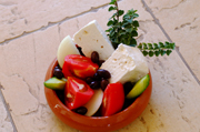 Traditional Village Salad at the Sienna Restaurant in Paphos, Cyprus