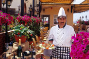 Head Chef Peter at the Sienna Restaurant in Paphos, Cyprus