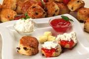 Cream Teas Served Daily at the Sienna Restaurant in Paphos, Cyprus
