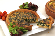 Homemade Quiches at the Sienna Restaurant in Paphos, Cyprus