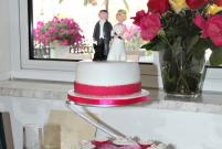 Wedding Cake made by the Sienna Restaurant in Paphos, Cyprus