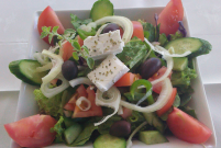 Cypriot Traditional Salad at the Sienna Restaurant in Paphos, Cyprus