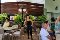 Julie, our Head Watress at the Sienna Restaurant in Paphos, Cyprus