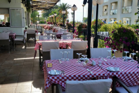 The Terrace at the Sienna Restaurant in Paphos, Cyprus