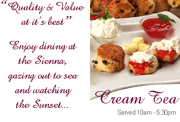 Cream Teas at Sienna Restaurant in Paphos, Cyprus